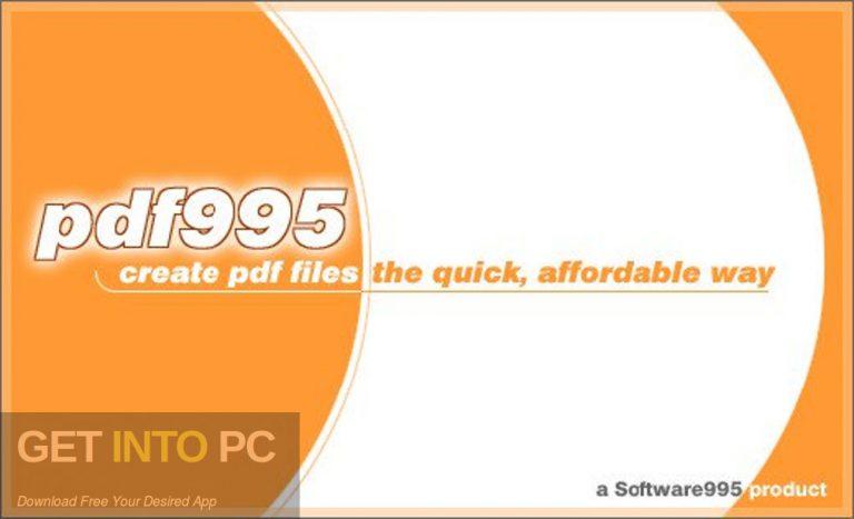 Pdf995 Printer Driver Free Download - GetIntoPC Free